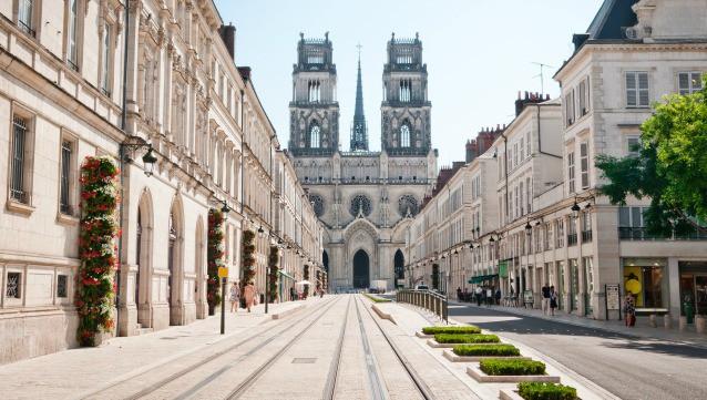 Une vue de la ville d'Orléans.